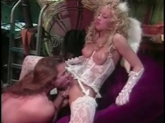 Eating out a blonde angel in white lace lingerie videos