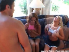 Skinny and curvy slut team up to suck his cock movies at find-best-babes.com