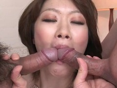 Spit roasted japanese slut fucked in cunt and ass videos