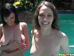 In the pool with a pair of big titty girls movies at find-best-babes.com