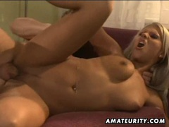 Hot amateur girlfriend home action with facial shot videos