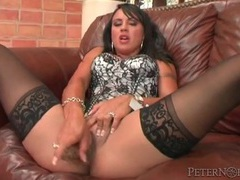 Corset and stockings on dildo fucking girl movies