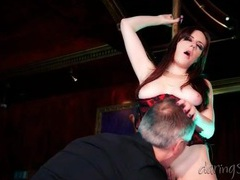 Stripper in corset fucked hard in the club videos