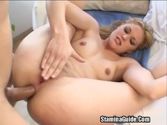 Hot blonde fucked on her ass videos