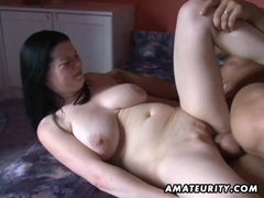 Busty amateur girlfriend anal action with cumshot videos