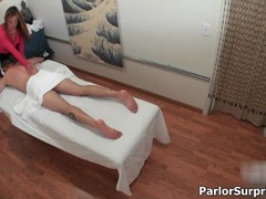 Sexy asian slut gets horny rubbing a guy during a massage videos