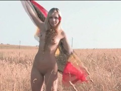 Hot blonde naked outdoors and driving the car videos