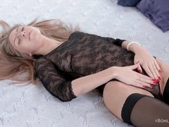 Girl in black lace masturbates for her boyfriend movies at kilotop.com