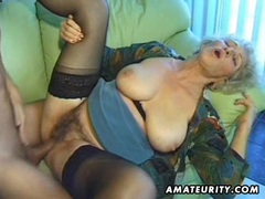Old amateur mature wife sucks and fucks with cumshot clip