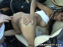 Busty amateur girlfriend anal with facial in a car videos
