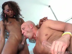 Black tranny cock up his asshole from behind videos