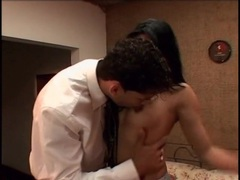 Young dick sucking latina undresses him to give head videos