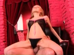 Beauty in black panties rides dick in close up movies at lingerie-mania.com