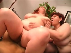 He power fucks fat cunts in bbw threesome videos