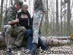 Amateur girlfriend outdoor threesome with facial videos