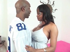Black chick with huge tits sucks a dick videos
