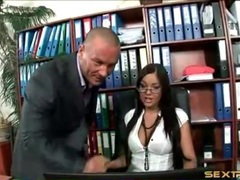 Slut sucks on the big cock of her boss videos