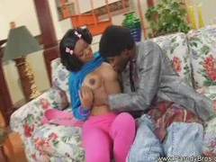 Young ponytailed black girl fuck hard from behind videos