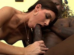 India summer takes a big cock in her tiny hairy twat! movies at kilosex.com