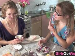 Cute australian lesbians lick their pink holes videos
