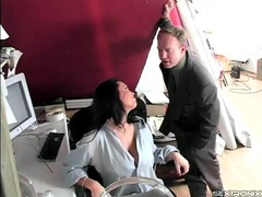 Fondling and stripping mom in the office movies at kilopics.net