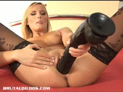 Petra loving the feeling of a massive brutal dildo movies at kilopills.com