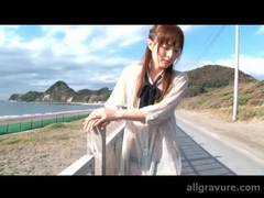 Check her out in a sheer dress on a sunny day tubes at japanese.sgirls.net