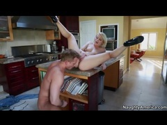 Pornstar ash hollywood fucked on kitchen counter videos