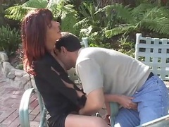 Sexy redhead with perky boobs fucked outdoors movies at adipics.com