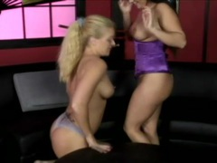 Lesbian in purple corset loves the taste of pussy videos