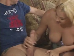 His blonde wife gets butt fucked and takes a facial videos
