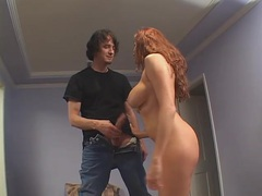 Long red hair on a hot milf he taps from behind videos