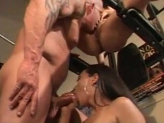 Fit guy in gym fucks a couple of hot asian sluts tubes at thai.sgirls.net