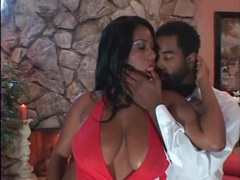 Romantic oral sex with busty black beauty videos