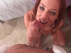 Gorgeous skinny redhead does deepthroat bj videos