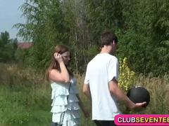Busty pale teenager fucked outdoors movies at sgirls.net