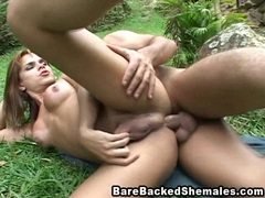 Sexy shemale barebacking with the nature movies at kilotop.com