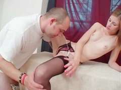 Pure beauty in stockings and crotchless panties sex movies