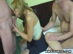 Amateur homemade threesome with cumshot movies at find-best-pussy.com