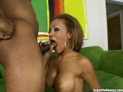 Ebony lover with fake tits fucked hardcore videos