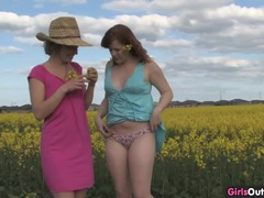 Natural lesbian girls on a canola field movies at find-best-ass.com