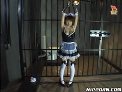 French maid put in bondage and covered in food movies at find-best-lingerie.com