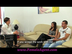 Femaleagent stud gets stage fright movies at sgirls.net