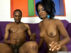 Three facial cumshots with black sluts videos
