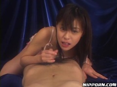 Pov blowjob with cute japanese girl in lace lingerie tubes at lingerie-mania.com