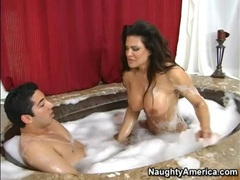 Bubble bath hardcore with teri weigel movies at lingerie-mania.com