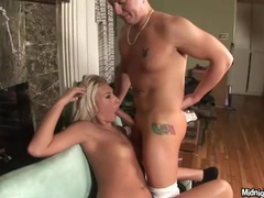 Blonde with little tits pleases big dicks videos