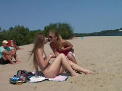 Totally naked teenager on spy beach videos