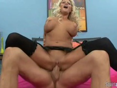 Blonde nikita von james is a major squirter movies at lingerie-mania.com