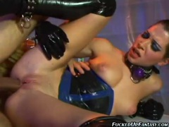 Latex fetish sex with hot anal action movies
